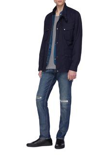 DENHAM 'Razor' slim fit ripped jeans