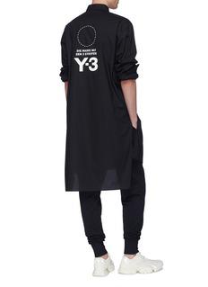 Y-3 'Stacked' logo print high-low long shirt