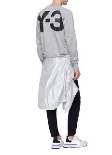 Y-3 Logo print raglan sleeve sweatshirt