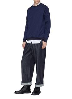 meanswhile Zip sleeve nylon sweatshirt