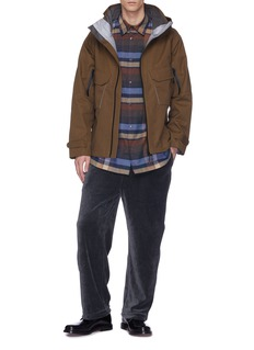 meanswhile Zip outseam hooded Ventile® jacket