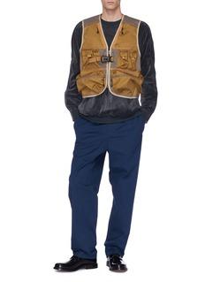 meanswhile Zip sleeve velour sweatshirt