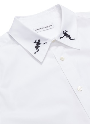 - Alexander McQueen - Dancing skeleton embroidered short sleeve shirt