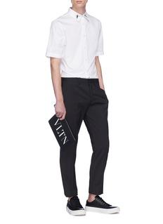 Alexander McQueen Dancing skeleton embroidered short sleeve shirt
