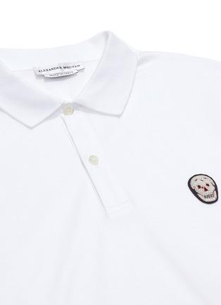 - Alexander McQueen - Skull patch jersey polo shirt