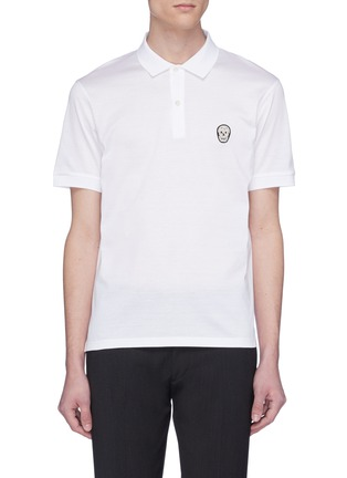 Main View - Click To Enlarge - ALEXANDER MCQUEEN - Skull patch jersey polo shirt