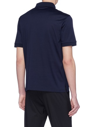 Back View - Click To Enlarge - Alexander McQueen - Skull patch jersey polo shirt