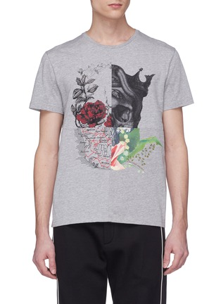 Main View - Click To Enlarge - Alexander McQueen - Patchwork skull print T-shirt
