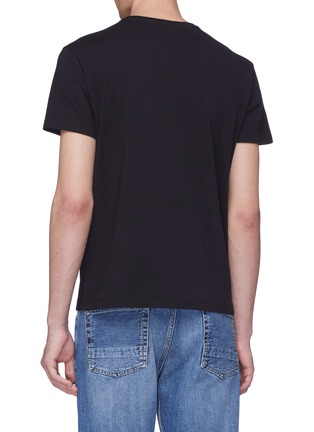 Back View - Click To Enlarge - ALEXANDER MCQUEEN - Patchwork skull print T-shirt