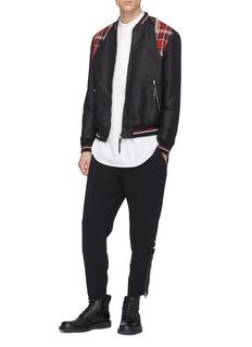 Alexander McQueen Tartan plaid yoke souvenir jacket