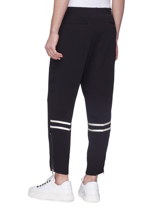 Back View - Click To Enlarge - Alexander McQueen - Satin stripe crepe jogging pants