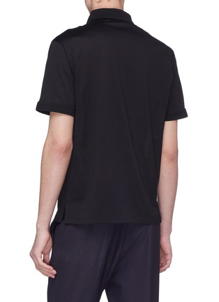 Back View - Click To Enlarge - ALEXANDER MCQUEEN - Skull badge polo shirt