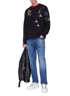 Valentino Embellished dragonfly appliqué jeans