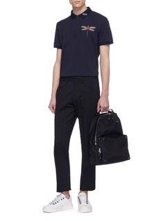 Valentino Embellished dragonfly appliqué polo shirt