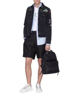 Valentino Beaded video game embroidered denim jacket