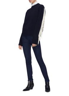 CALVIN KLEIN 205W39NYC Fringe sleeve virgin wool blend sweater