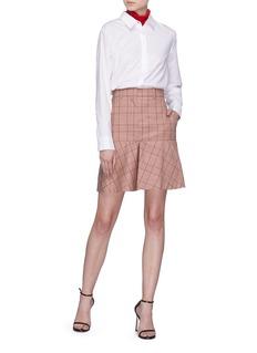 CALVIN KLEIN 205W39NYC Glen plaid wool mini skirt