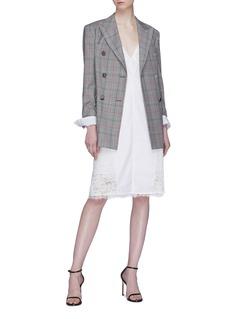CALVIN KLEIN 205W39NYC Chantilly lace trim slip dress
