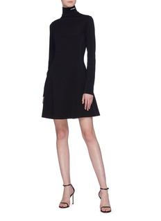 CALVIN KLEIN 205W39NYC Logo embroidered virgin wool turtleneck dress