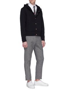 Thom Browne Button wool hoodie