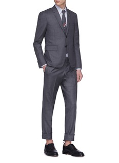 Thom Browne Stripe outseam wool twill pants