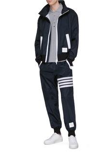 Thom Browne Stripe panel ripstop jogging pants