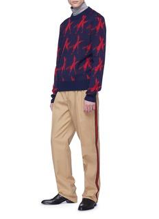 CALVIN KLEIN 205W39NYC 'Knives' intarsia wool-alpaca sweater