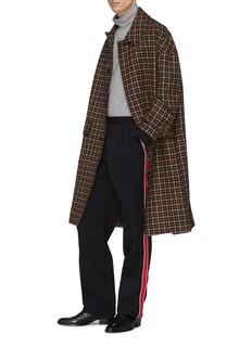 CALVIN KLEIN 205W39NYC Stripe outseam wool twill pants