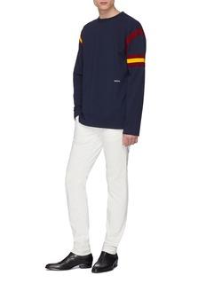 CALVIN KLEIN 205W39NYC Rib knit stripe sweatshirt