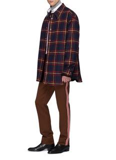 CALVIN KLEIN 205W39NYC 'Uniform' stripe outseam virgin wool twill pants
