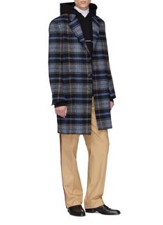 CALVIN KLEIN 205W39NYC x Pendleton Woolen Mills tartan plaid virgin wool twill coat