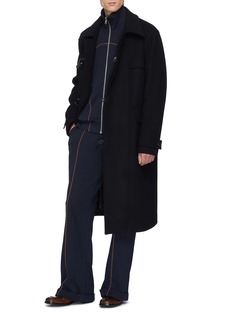Dries Van Noten 'Halley' contrast piping wide leg track pants