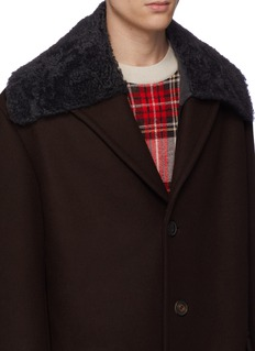 Dries Van Noten 'Garnett' faux shearling collar