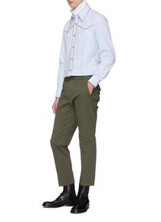 Dries Van Noten 'Crudo' contrast piping shirt