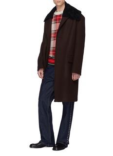 Dries Van Noten 'Rawlins' padded wool blend melton coat