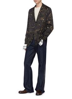 Dries Van Noten 'Bilbao' marble effect pyjama jacket