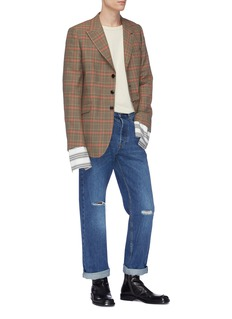 Dries Van Noten Houndstooth tartan plaid jacket