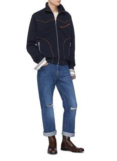 Dries Van Noten 'Hallmar' contrast piping track jacket