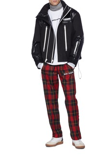 Alexander Wang  Retractable hood contrast panel jacket