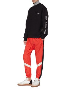Alexander Wang  Credit card textured print sweatshirt