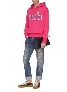 Gucci Logo piglet appliqué hoodie