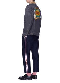 Gucci Mix chenille patch logo print denim jacket