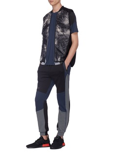 Dyne 'Renzo' colourblock neoprene jogging pants
