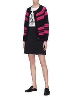 Alexa Chung Stripe mohair blend cardigan