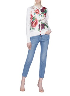 Dolce & Gabbana Peony print silk cardigan