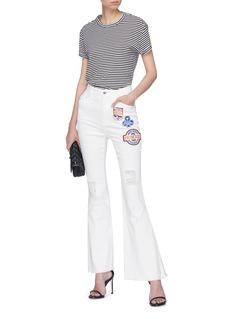Dolce & Gabbana Mix appliqué flared jeans