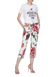 Dolce & Gabbana '#Please Say Sorry 2 Me' slogan print T-shirt