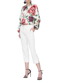 Dolce & Gabbana Floral brocade cropped pants