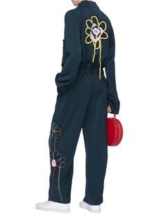 Mira Mikati Belted floral appliqué jumpsuit