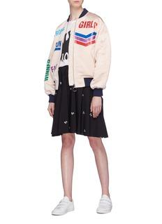 Mira Mikati 'Run Girl' slogan print bomber jacket